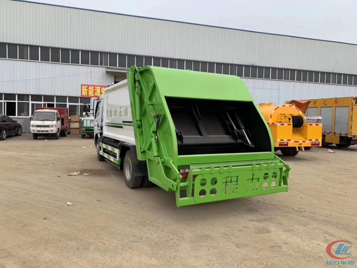 Pure electric 8- cbm  compression garbage truck